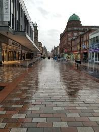 Glasgow in the rain
